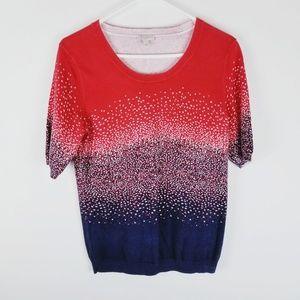 Talbots short sleeve patriotic sweater small